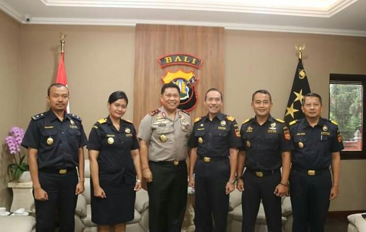 Kapolda Bali Terima Kedatangan Rombongan dari Kakanwil DJBC Bali, NTB dan NTT/fajarbadung.com