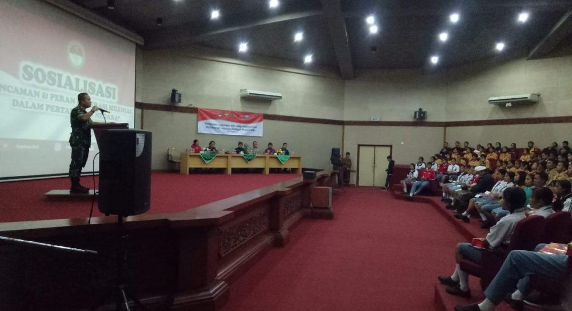 Gandeng Kemenhan, Kodim Bangli Sosialisasi Bela Negara dan Komponen Cadangan/fajarbadung.com