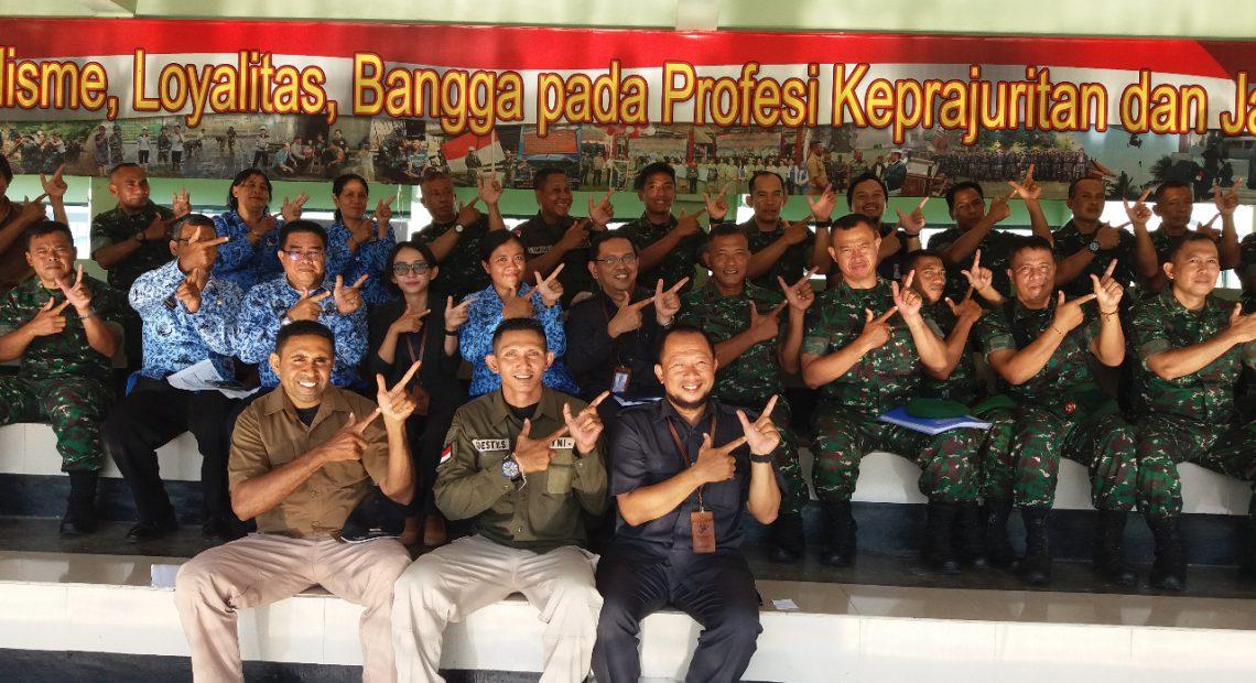 BPS Bali Sosialisasikan SP 2020 di Makorem 163 Wira Satya/fajarbadung.com