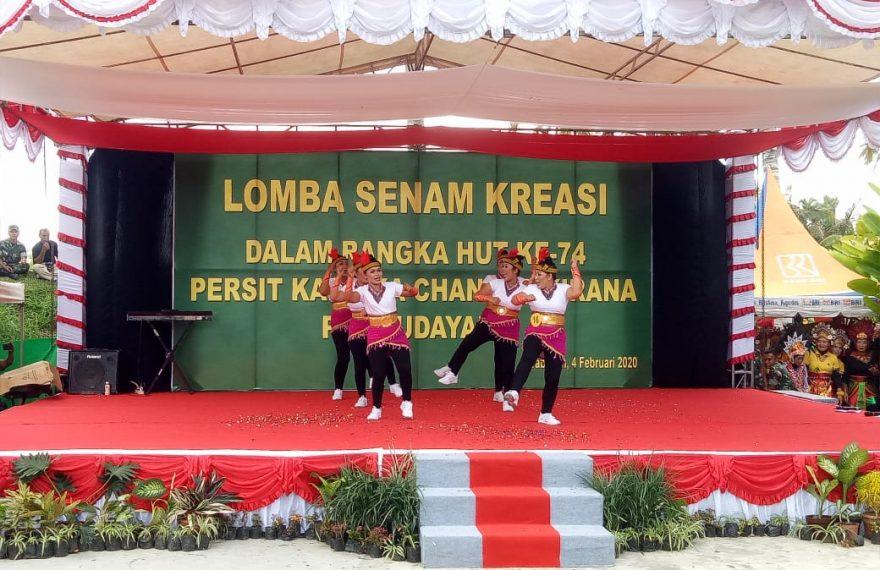 Lomba Senam Kreasi Hut Ke 74 Persit KCK/fajarbadung.com