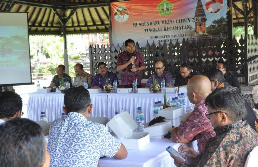 Sekda I Gede Susila Tutup Musrenbangcam RKPD Kabupaten Tabanan Tahun 2021/theeast.co.id