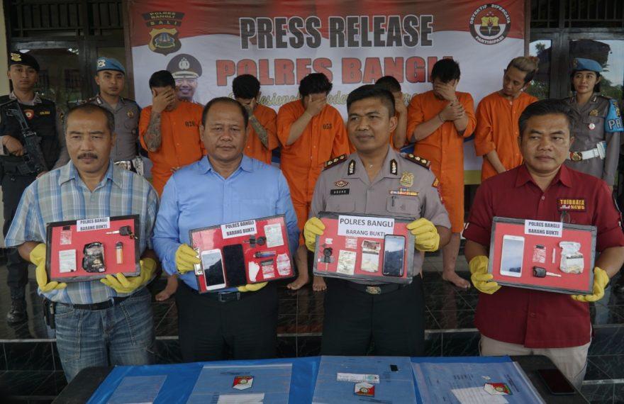 Operasi Antik 2020, Polres Bangli Sikat 6 Pelaku Narkoba/fajarbadung.com