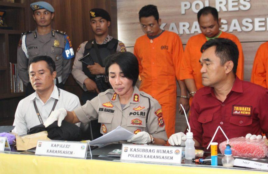 Polres Karangasem Gelar Press Release Oprasi Antik Agung Tahun 2020 Ungkap 4 Kasus Narkotika/fajarbadung.com