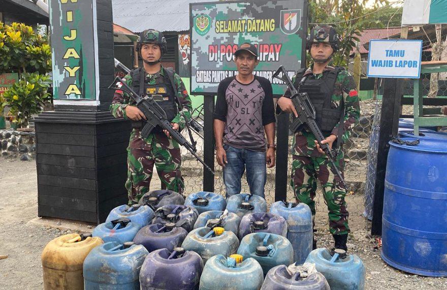 Satgas Raider 300 Amankan BBM Tanpa Surat-surat/fajarbadung.com