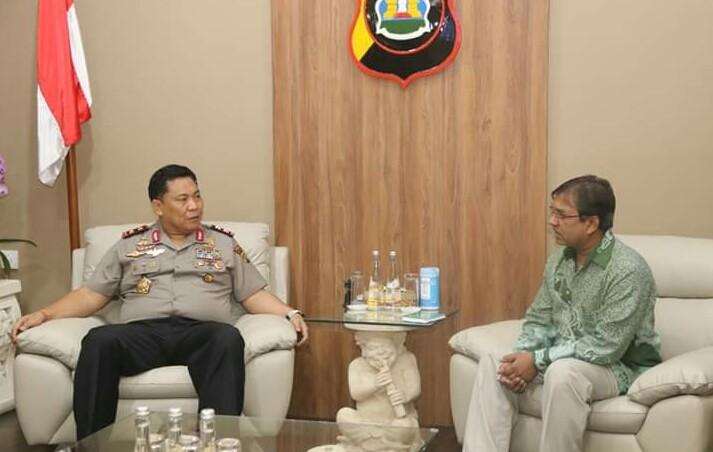 Kapolda Bali Terima Kunjungan dari Konjen India/fajarbadung.com