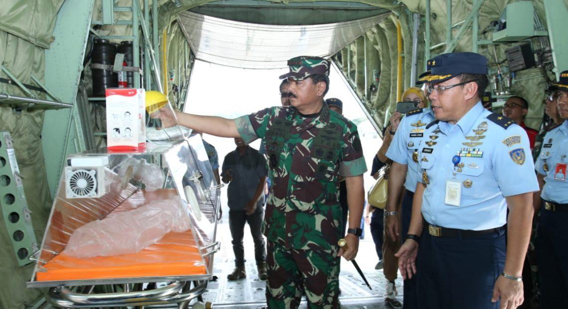 Panglima TNI Tinjau Kontainer Isolasi Medik Udara (KIMU) TNI AU/fajarbadung.com