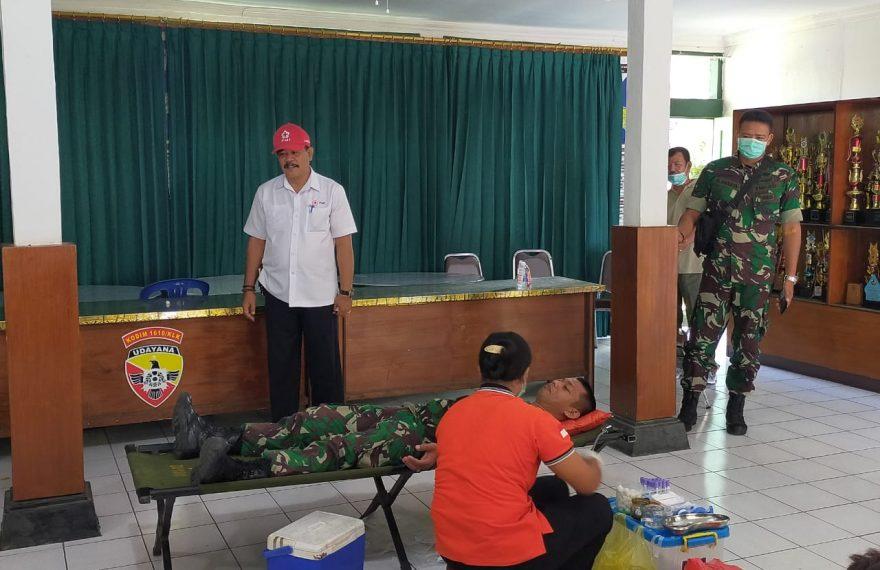 Wakil Bupati Klungkung Apresiasi Donor Darah Kodim Klungkung/fajarbadung.com
