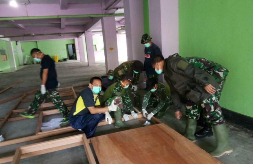 Kodim Bantu RSUD Klungkung Siapkan Ruang Isolasi Bagi Pasien Covid-19/fajarbadung.com