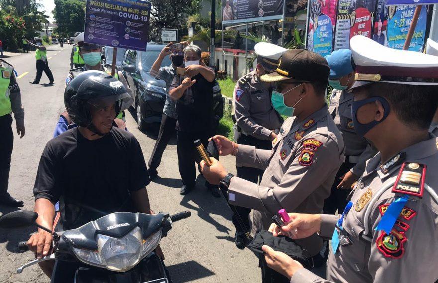 Kapolres Buleleng Pimpin Langsung Kegiatan Operasi Keselamatan Agung 2020/fajarbadung.com