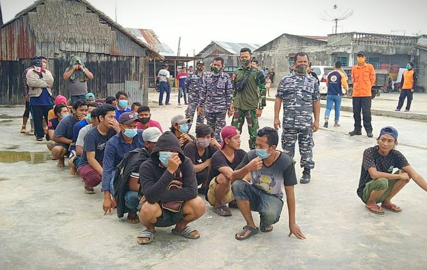 TNI AL Amankan 27 Pekerja Migran Ilegal di Kabupaten Asahan/fajarbadung.com