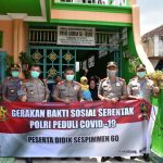 "Gerakan Bakti Sosial Serentak ""Polri Peduli Covid-19"" Peserta Didik Sespimmen Kompol Achmad Akbar/fajarbadung.com"