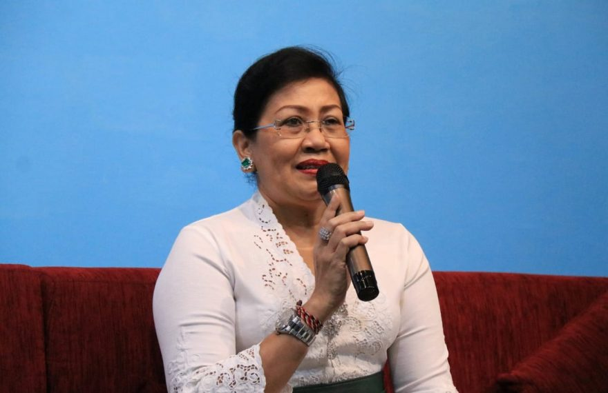 Ny Putri Koster Minta Guru PAUD dan TK Mendidik Budi Pekerti Usia Dini/fajarbadung.com