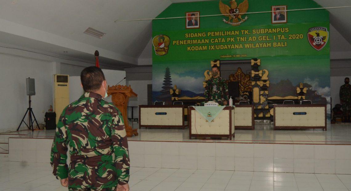Dinyatakan Lulus, 58 Orang Cata Wilayah Bali Siap Ikuti Pendidikan Secata di Rindam IX/Udayana/fajarbadung.com