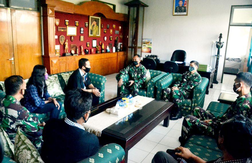 Terima Audiensi Pemred Bali TV, Danrem Ingatkan Bijak Bermedia Sosial/fajarbadung.com