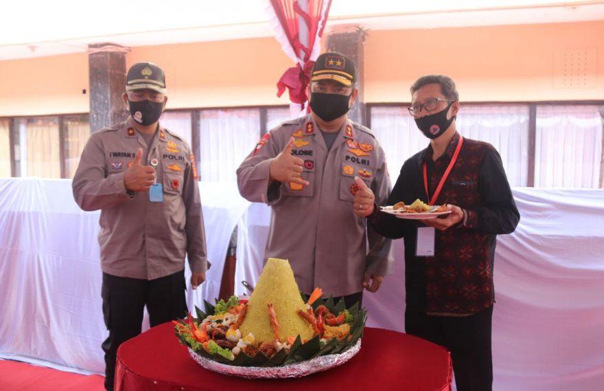 Kapolda Bali Resmikan Press Room Ghoshal/fajarbadung.com