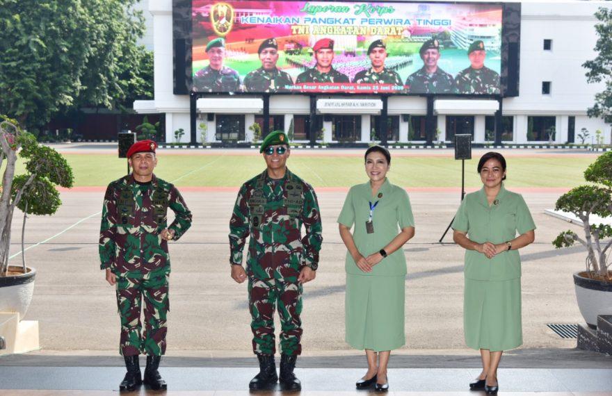 Kasad Pimpin Sertijab 9 Jabatan Pangkotama, Asisten dan Kabalakpus TNI AD dan Laporan Korps Kenaikan Pangkat 56 Perwira Tinggi TNI AD/fajarbadung.com