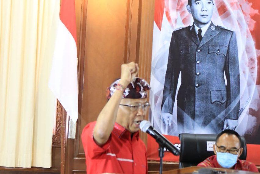 Buka Webinar Bulan Bung Karno, Gubernur Koster Ajak Generasi Penerus Gelorakan Ide dan Gagasan Sang Proklamator/fajarbadung.com