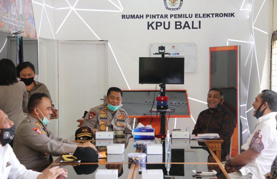 Kapolda Bali Koordinasi Pengamanan Pilkada Serentak di 6 Kabupaten dan Kota/fajarbadung.com