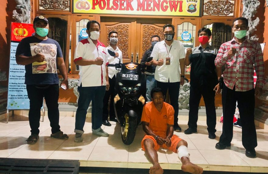 Polsek Mengwi, Badung Ringkus Residivis Gasak Motor Untuk Bayar Hutang/fajarbadung.com