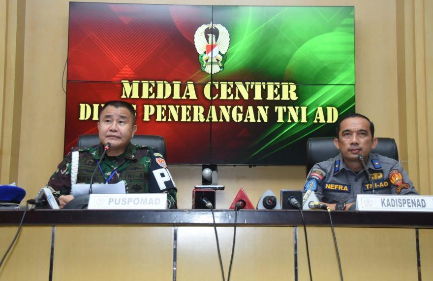 Puspomad Gelar Press Conference Terkait Meninggalnya Anggota TNI AD/fajarbadung.com