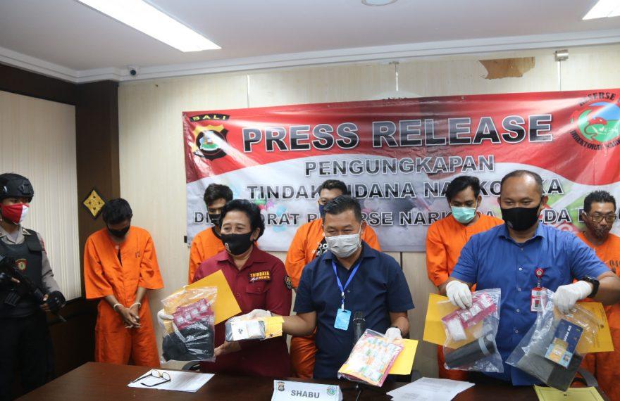 Polda Bali Ringkus 7 Pelaku Narkoba dalam Dua Pekan/fajarbadung.com