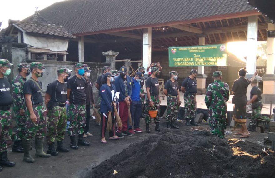Karya Bakti Kodim Klungkung Wujud Nyata Pengabdian untuk Rakyat/fajarbadung.com