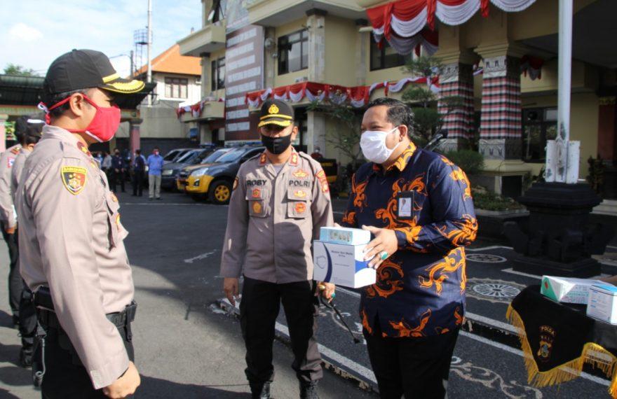 Dapat Bantuan Suplemen dari Kimia Farma, Stamina Anggota Polres Badung Makin Terjaga/fajarbadung.com