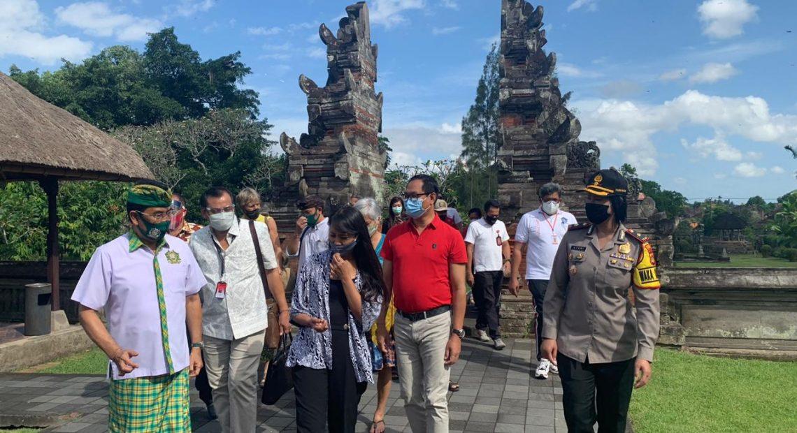 Wakapolres Badung Kunjungi Kawasan Wisata Taman Ayun/fajarbadung.com