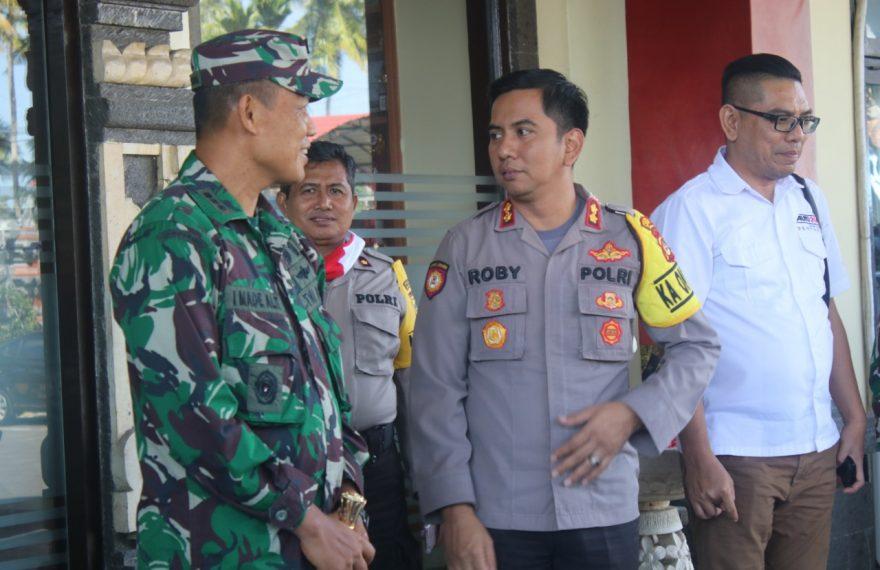 Jalin Sinergitas TNI - Polri, Dandim 1611 Badung Silaturahmi ke Polres Badung/fajarbadung.com