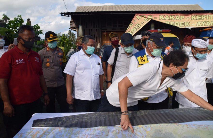 Kapolres Badung Hadiri Kunjungan Menteri PUPR RI di Desa Sembung/fajarbadung.com