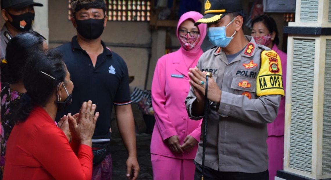 Kapolres Badung Ucapkan Belasungkawa Atas Berpulangnya Ny. Vina Agus Hariawan/fajarbadung.com